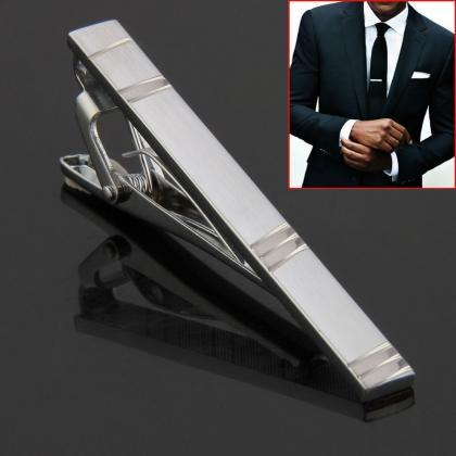 Fashion Hot Simple Men Necktie Silv..