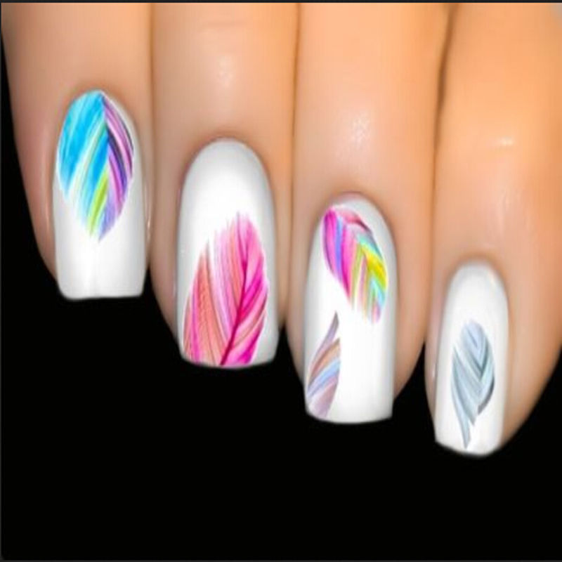 Colorful Feature Water Transfer Decal Nail Art Tips Sticker Decal ...