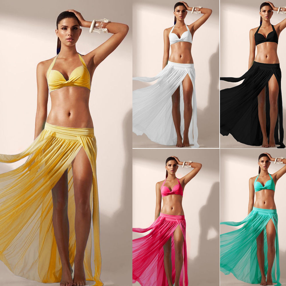 78f4f267d8888 Women Fashion Summer Beach Dress Bikini Cover Up Swimwear Sarong Sexy Wrap  Pareo