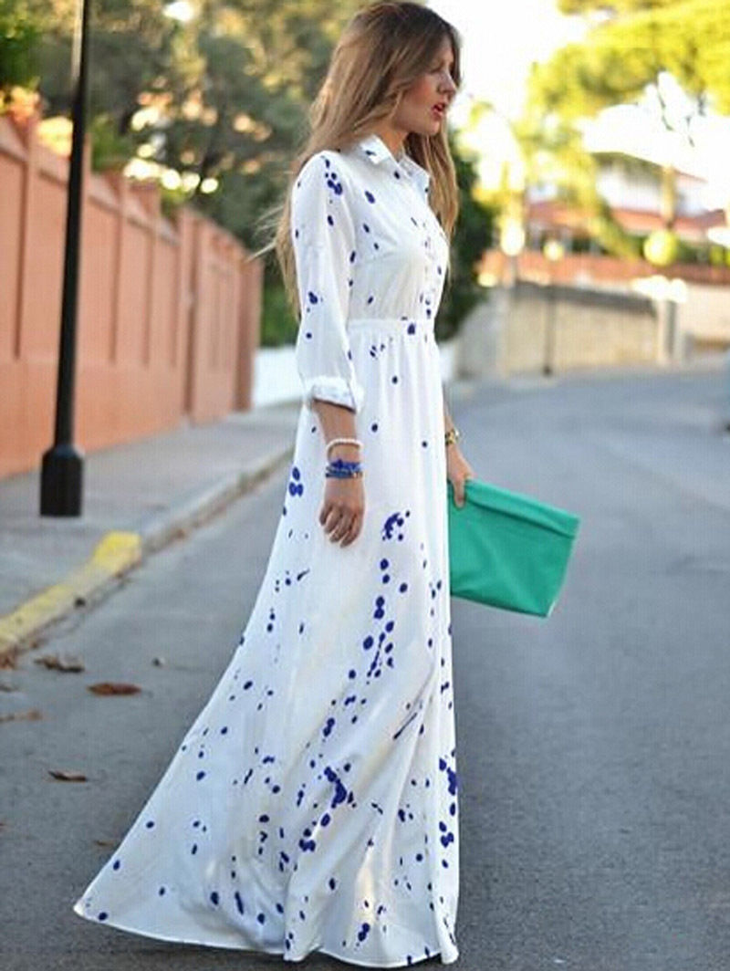 bf48982b24a New Women Sexy Summer Boho Evening Party Long Maxi Beach Dress Chiffon  Dresses