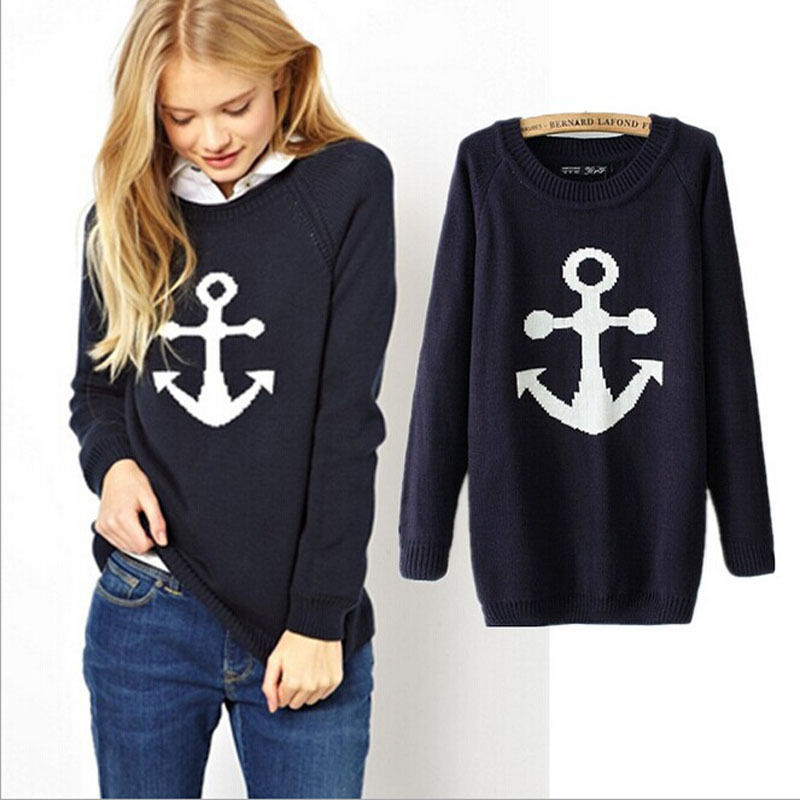 95ded121972 Women Round Neck Long Sleeve Knitted Pullover Jumper Loose Sweater Knitwear  Tops