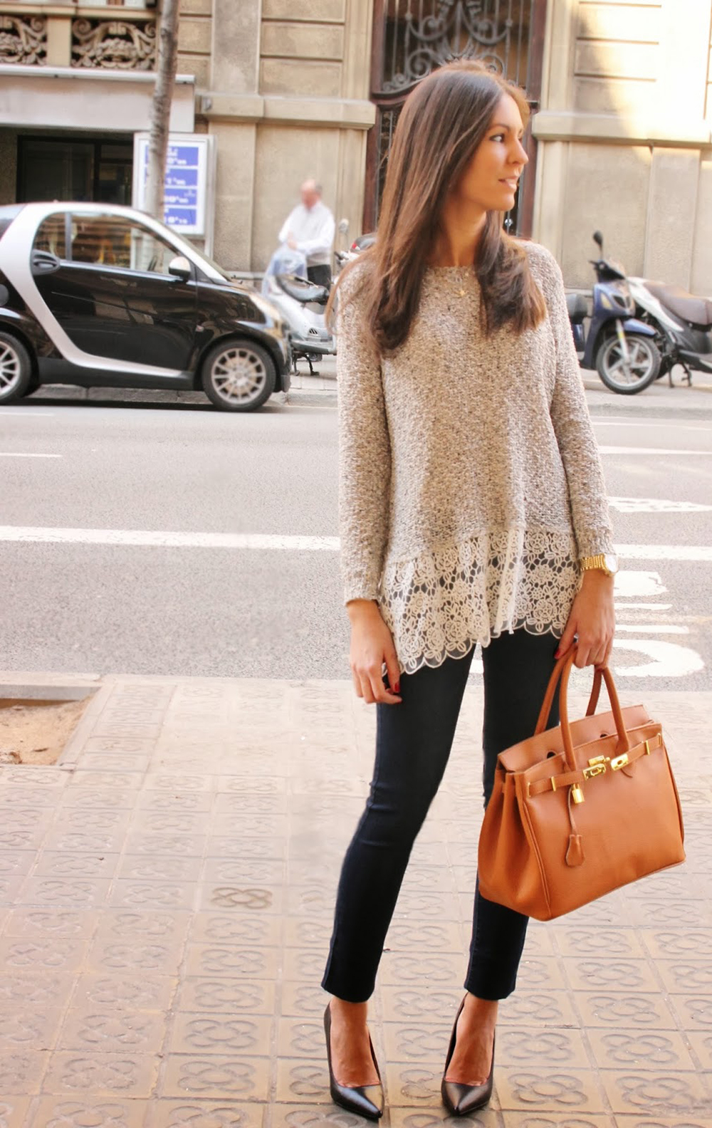 7ea669b249 NEW Jump long Sleeve lace BLOUSE women loose T Shirt Sweater Tops pullover