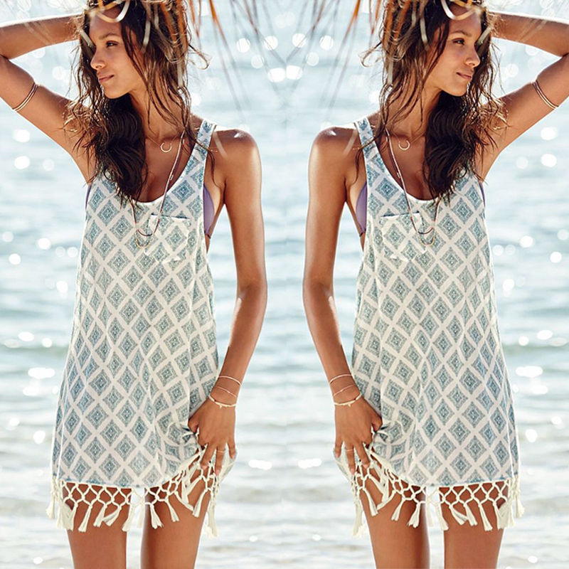d6011b28f99 Sexy Women Summer Holiday Casual Boho Beach Dress Cocktail Evening Party  Dresses