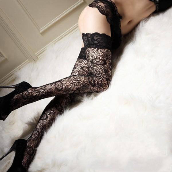 c26f79553 New Womens Girl Sexy Long High Socks Thigh High Hosiery Stockings Over The  Knee