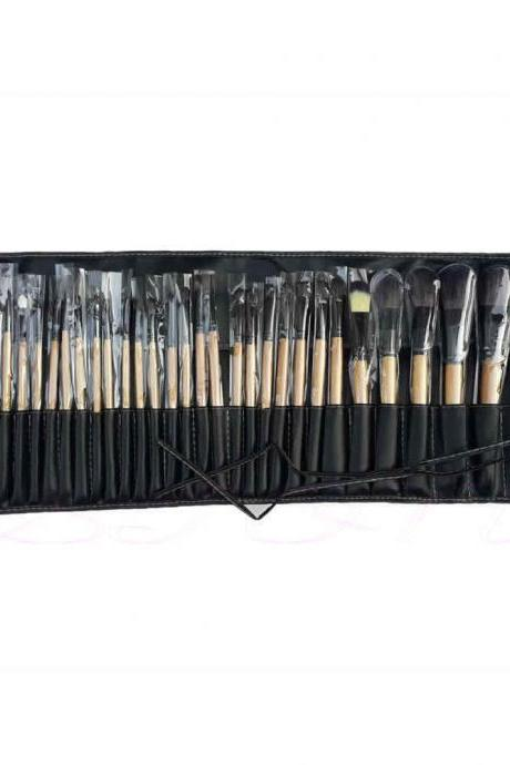 32pcs Professional Soft Cosmetic Eyebrow Shadow Makeup Brush Set Kit + Pouch Bag FREE SHIP!