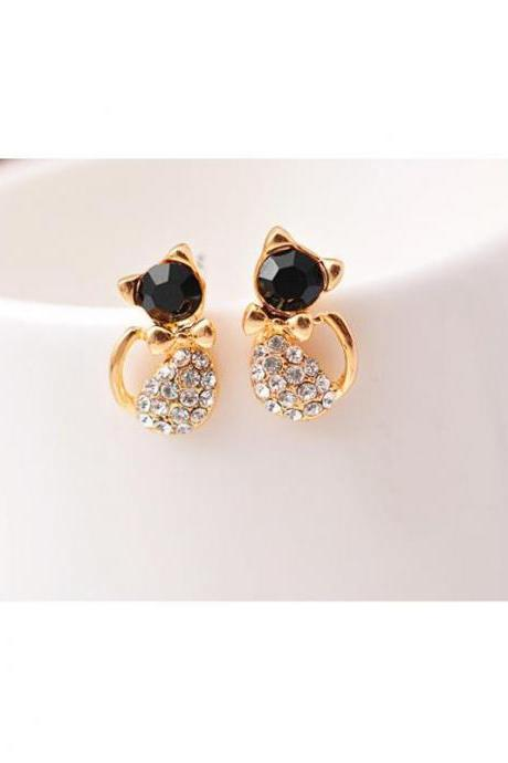 1 Pair Cute Cat Earrings