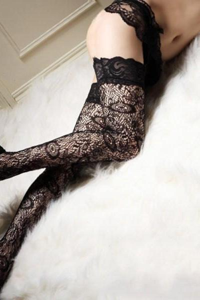 New Womens Girl Sexy Long High Socks Thigh High Hosiery Stockings Over The Knee