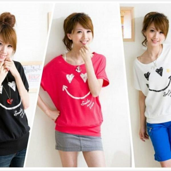 Women 2014 Summer New Fashion Korean Style Casual Short Sleeve T-Shirt Tops
