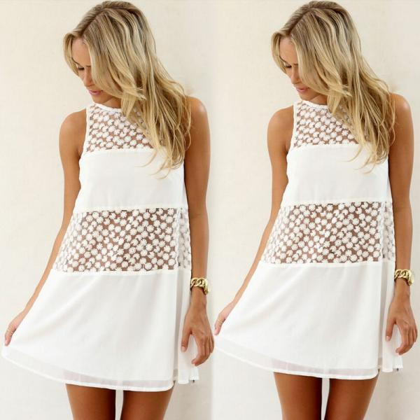 913b8bdf9d Sexy Women s Summer Casual Sleeveless Evening Party Beach Dress Short Mini  Dress on Luulla