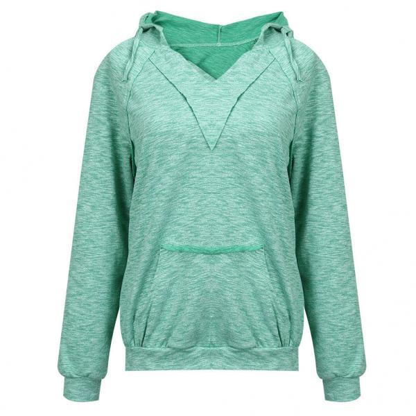 Casual Womens Pullover Jumper Hoodie Long Sleeve Hooded Outwear Sweatshirt Tops