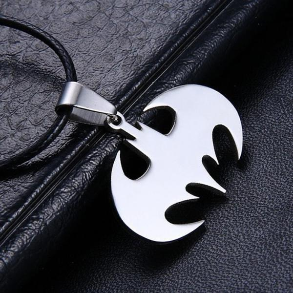 New Unisex Chain Silver Stainless Steel Bat Batman Pendant Necklace Choker Gift
