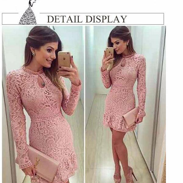 2016 Women Fashion Casual Lace Dress
