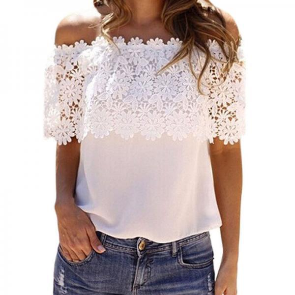White Lace Off-the-Shoulder Top